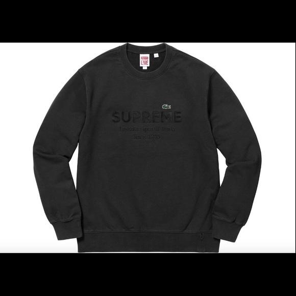 54171097 Jackets & Coats | Supreme X Lacoste Sweatshirt | Poshmark